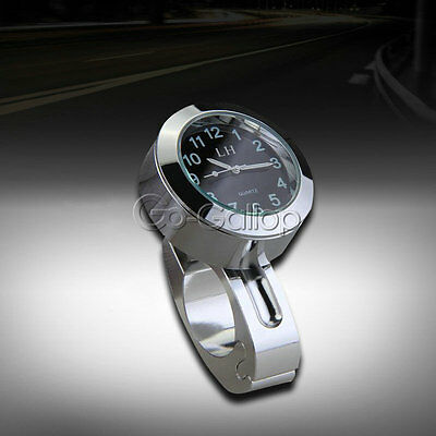 Chrome Handlebar Mount Clock for Harley Softail Fat Boy / Heritage Classic