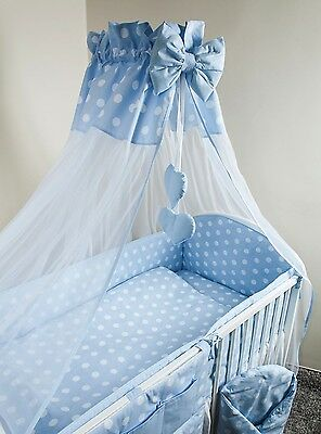 New | Baby Canopy Drape / Mosquito Net + Clamp Holder For Nursery Cot Bed - TURT