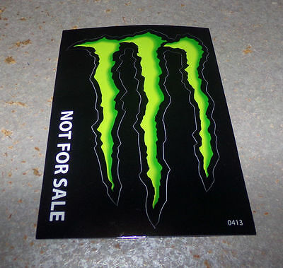 """Monster Energy Drink Decal/Sticker  4"""" X 3"""" Lot Of 2"""