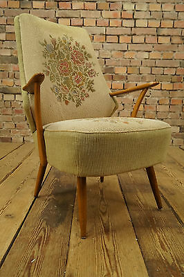 WoW 60s Rockabilly COCKTAIL ARM CHAIR ARMCHAIR FAUTEUIL Mid Century Vintage 5