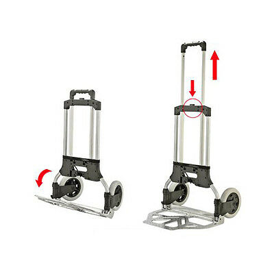 Compact Aluminium Folding Hand Truck Trolley Luggage Cart Foldable 50KG