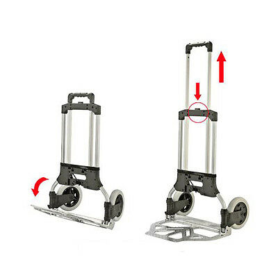Compact Aluminium Folding Hand Truck Trolley Luggage Cart Foldable 80KG