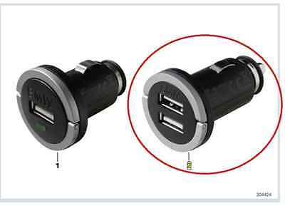 Genuine BMW Auxiliary Power Socket Double USB Charger PN:64512411420 UK