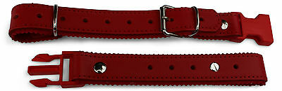 Deluxe Accordion Back Strap Red Leather Easy Release Made in Italy Italcinte 134