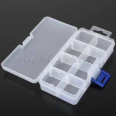 Transparent 8 Slots Storage Box Adjustable Plastic Case Home Organizer Jewelry