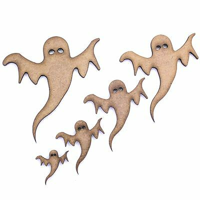 Ghost Craft Shapes, Embellishments, Tags, Decorations. 2mm MDF Wood, Halloween