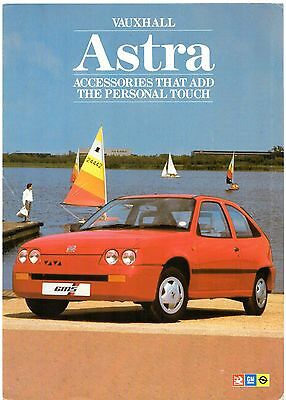 Vauxhall Astra Mk2 Accessories 1987 UK Market Foldout Sales Brochure