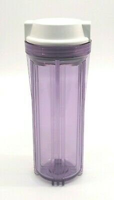 """10"""" Clear Housing For Reverse Osmosis Water Filters With 1/4"""" Female Port"""