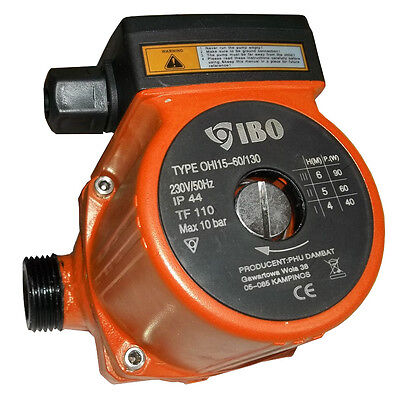 IBO OHI 15-60/130 Circulation Pump Central Heating replaces GRUNDFOS DAB MYSON