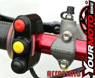 Accossato 3 Button custom Motorcycle Race and Track Day Handlebar Switch