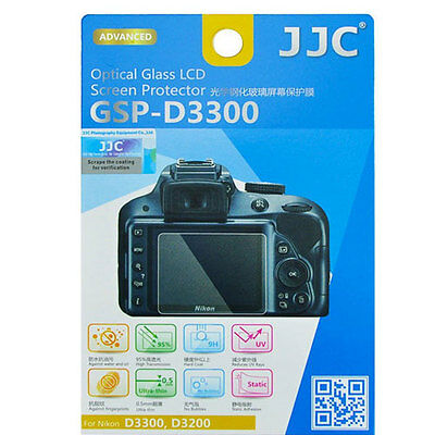 JJC GSP-D3300 Optical GLASS LCD Screen Protector Film for Nikon D3300 D3200 9H