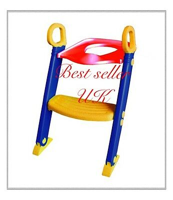 New Kids Childrens Baby Toddler Infant Ladder Potty Training Step Up Toilet Seat