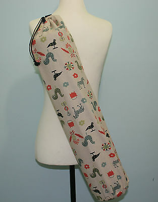 Handmade Cotton Yoga/Pilates Mat Bag with Adjustable Carry Strap Fits Mat 6mm