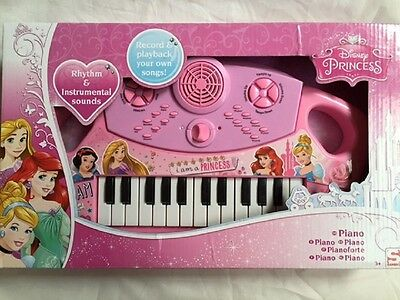 New Disney Princess Childrens Pink Piano Keyboard Record & Playback. Delivery is