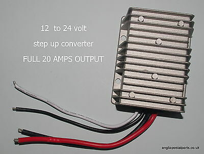 STEP UP CONVERTER TRANSFORMER 12V TO 24V FULL 20A suit EBERSPACHER or WEBASTO