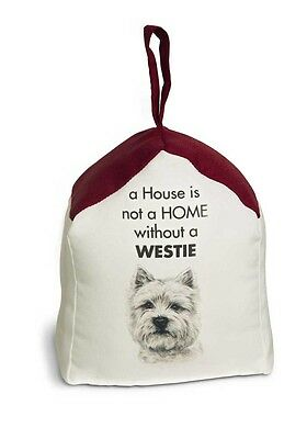 Westie Door Stopper 5 X 6 In. 2 lbs. – A House is Not a Home