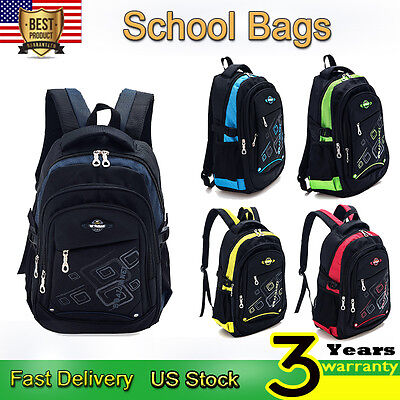 Children Kids Waterproof Backpack Bookbags Rucksack School Bags Girl Boy Satchel