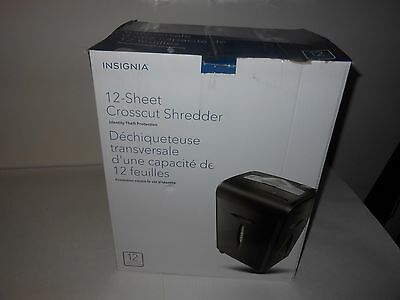 Insignia 12-Sheet Crosscut Shredder (NS-PS12CC-C) - Black