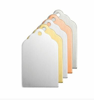 ImpressArt Aluminum Tag with hole 7/8 inch 20 Gauge Stamping Blanks 6 pack