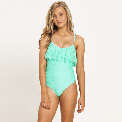 Kaiami Girls Alice Frill One Piece Swimsuit in Green