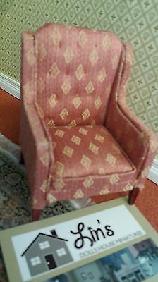 Dolls House Miniatures 1.12th Scale Button Back Armchair DF1142 New