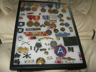 Wwii Us Military Medals/ribbon Collection  -- Korean Huge Lot Pins Patches Tags