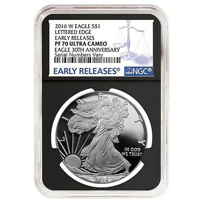 2016-W 1 oz Proof Silver American Eagle NGC PF 70 UCAM Early Releases - 30th Ann