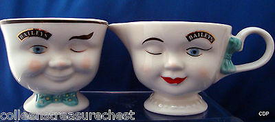 Baileys Guy and Gal Yum Sugar and Creamer 1996 Limited Edition
