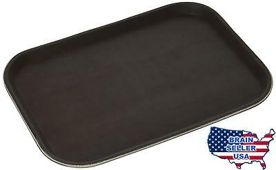 New Star Foodservice 24883 Non-Slip Tray, Plastic, Rubber Lined, Rectangular, 10