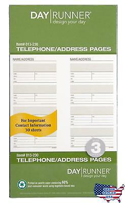 Day Runner Undated Planner Telephone and Address Refill, 3.75 x 6.75 Inches (013