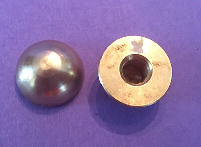 "LOT OF 2: NEW Unfinished Solid Brass 5/8"" Half Ball Finial KNOB Cap tap 1/4""-27"