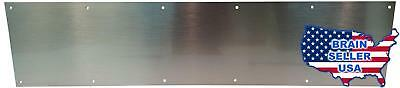 "Don-Jo 90 Metal Kick Plate, Satin Stainless Steel Finish, 36"" Width x 6"" Height,"