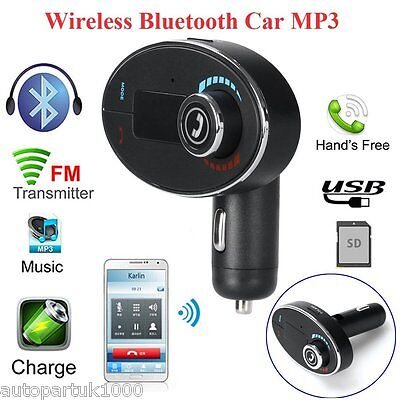 Wireless Music Streaming USB Car Charger FM Transmitter Bluetooth Hands-free