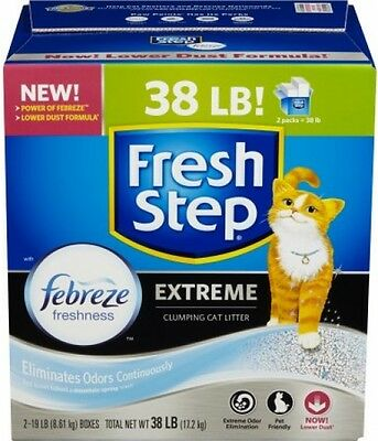 Fresh Step Extreme With Febreze Freshness, Clumping Cat Litter, Scented, 38