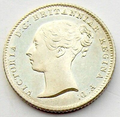 Victoria Four Pence 1838 Groat BU Proof Like
