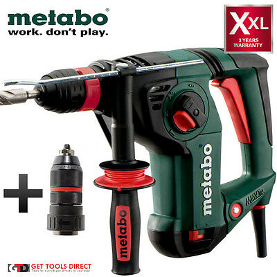 New Metabo 800 Watt 3 Mode 32mm SDS Plus Rotary Hammer Drill KHE3251