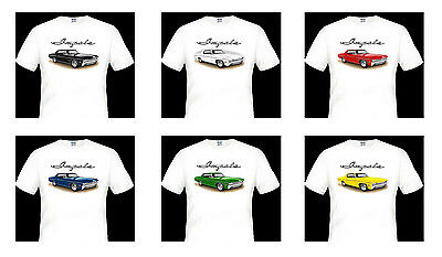 1967 - 1968   CHEVY   327  IMPALA   1 x  QUALITY  WHITE TSHIRT    BIG  FIT