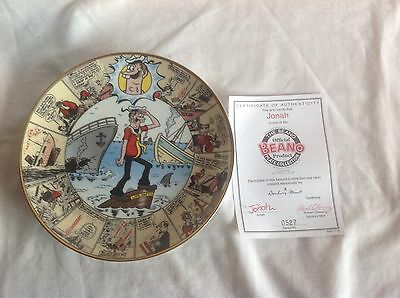 Jonah / The Official Beano Plate Collection / Danbury Mint / & Certificate