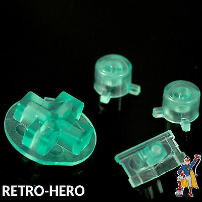 Gameboy Pocket Knöpfe GBP Buttons Game Boy Tasten Pads Knopf Button Clear Mint