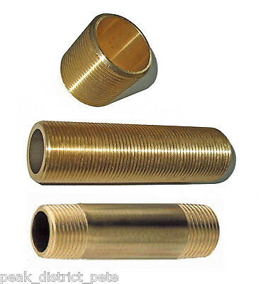 "Brass Nipples - various types 1.1/4"" to 2""BSP"