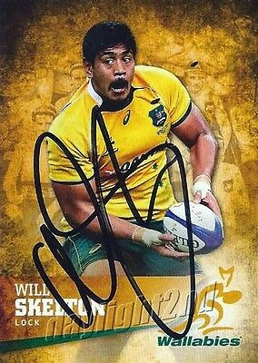 ✺Signed✺ 2016 WALLABIES Card WILL SKELTON