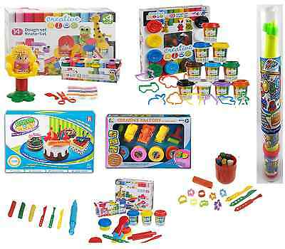 Plasticine Dough Craft Gift Play  Set Tubs Shapes Children Toys  Hobby clay