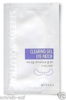 3x MISSHA Speedy Solution Clearing Gel Eye Patch (GP1Stk = 2,17€)