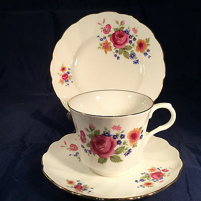 Pretty Royal Victoria Vintage China Trio Cup, Saucer & Plate  Summer Rose