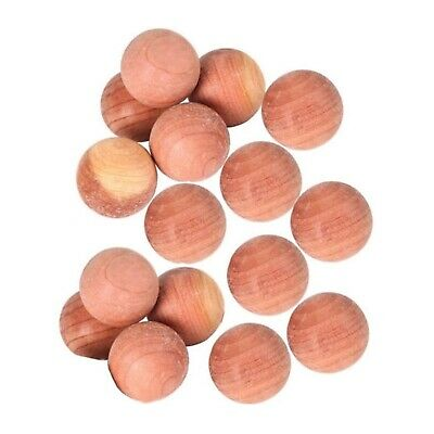 12 x Cedar Wood Moth Ball Wardrobe Drawer Natural Deterrent Clothes Protection