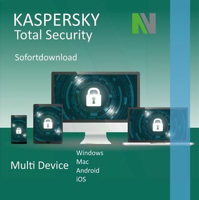 Kaspersky Total Security 2019 MultiDevice 5 PC 1 Jahr - Europas Best Protection