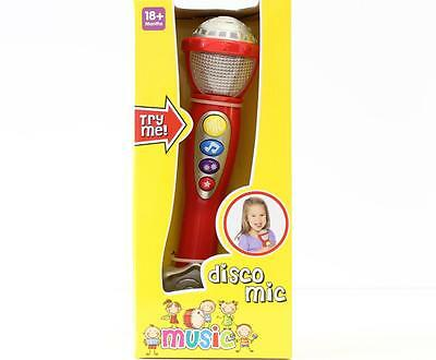 Musical Disco Mic  Toy Light Up Microphone 18+ Months