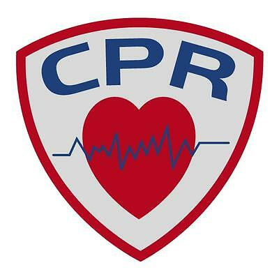 CPR Small Reflective Decal Sticker Emergency Medical EMT Paramedic Firefighter