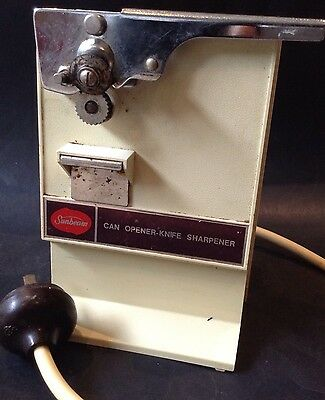 Mid Century Vintage Sunbeam Electric Can Opener Knife Sharpener Kitchenalia A/F