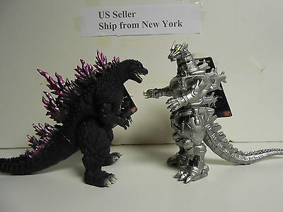Godzilla Set of 2 Japan Bandai Mechagodzilla 2004 Version-Millenium ShinePurple